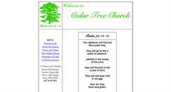 Preview of cedartreechurch.org.uk