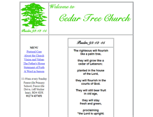 Tablet Preview of cedartreechurch.org.uk